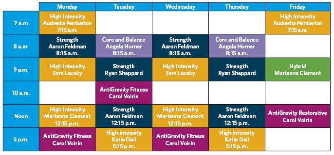 SGT class schedule
