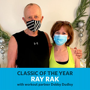 Ray Rak, Classic of the Year, with workout partner Debby Dudley