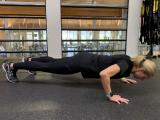trainer doing pushup