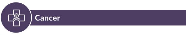 Cancer - icon with dark purple banner