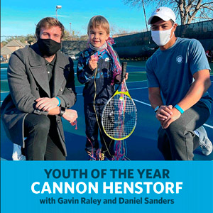 Cannon Henstorf, Youth of the Year, with Gavin Raley and Daniel Sanders