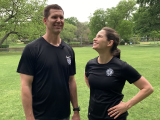 husband and wife personal trainer couple