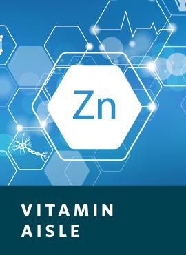 zinc bottle and supplements