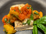 halibut with roasted tomatoes