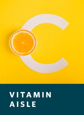vitamin c with orange slice