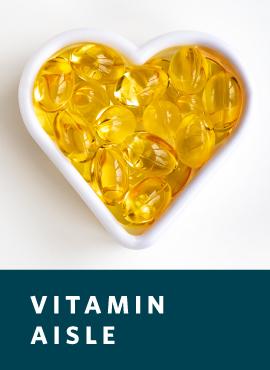 vitamin D in heart shape bowl