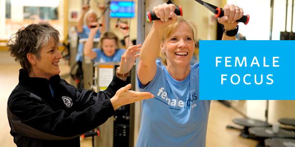 Female Focus class - instructor supervising participant
