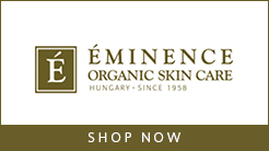 Eminence logo - Shop Now button