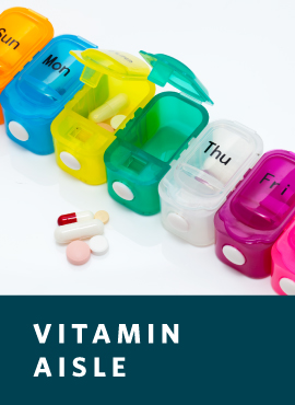 colorful pill organizer