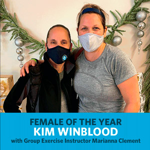 Kim Winblood - Female of the Year - with Marianna Clement, SGT and Group Exercise Instructor