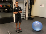 trainer with workout equipment