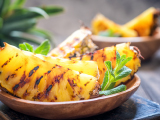 grilled pineapple and mint