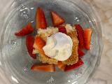 pineapple strawberry angel food cake