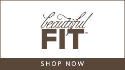 Beautiful Fit logo - Shop Now button