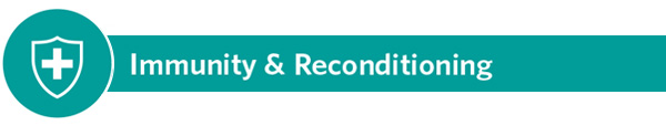 Immunity and Reconditioning - icon with dark teal banner