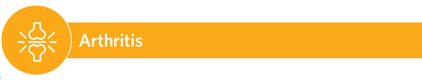 Arthritis - icon with orange color banner